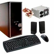 Gabinete Kit Fuente 500w + Teclado + Mouse + Parlantes