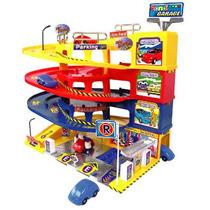 Garage-esacion De Servicio Rondi 3 Rampas Con Sonidos