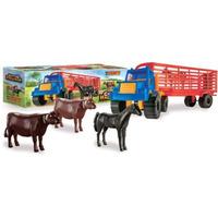 Duravit Camión De Hacienda Plástico 60 Cm Largo + 4 Animales