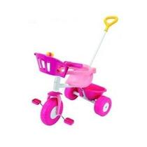 Triciclo Rondi Pink Metal C/ Barral De Metal Y Aro Sujetador