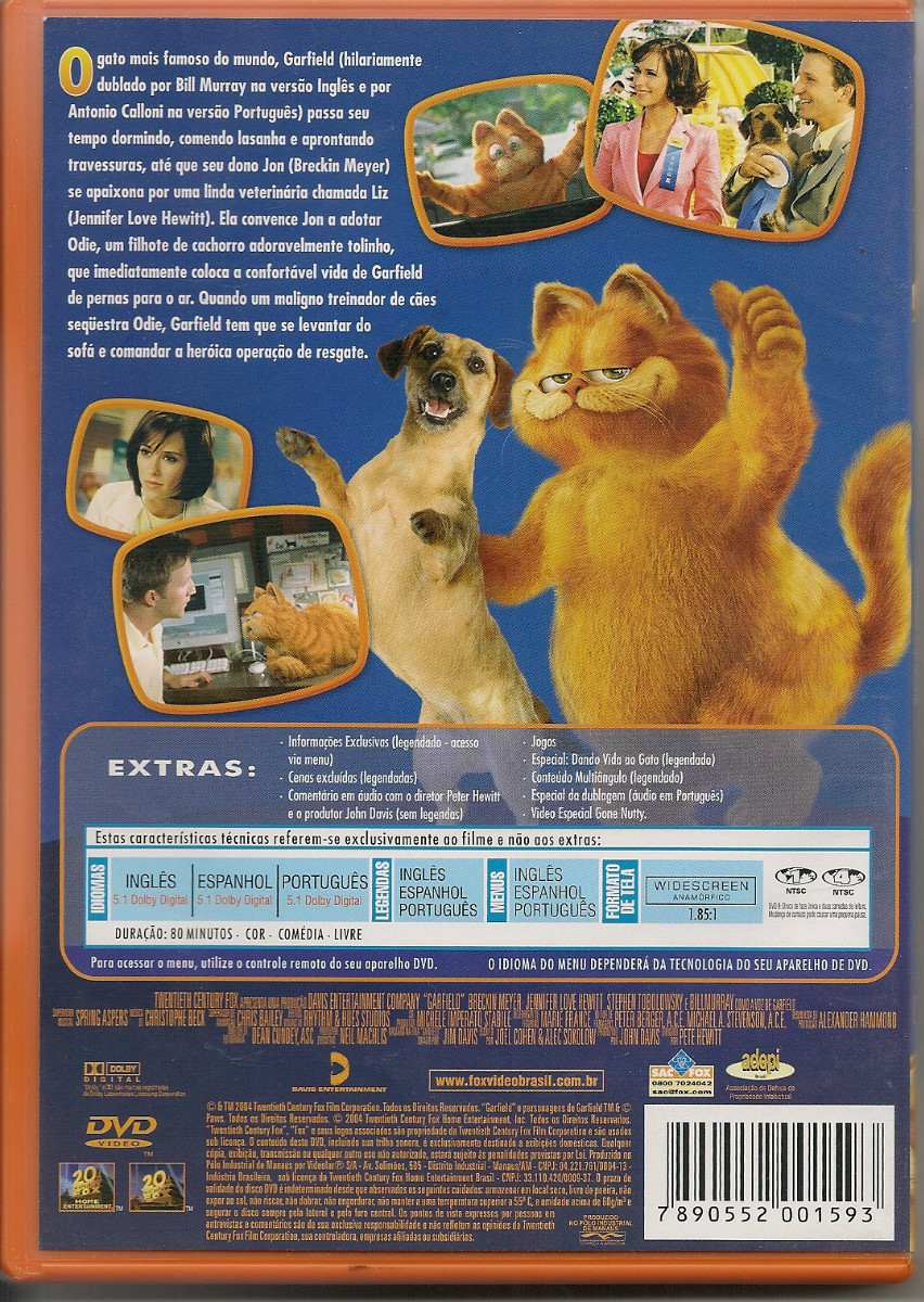 garfield the movie dvd: