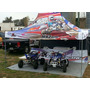 Carpa 3h Metal 3x4,5 Gazebo Plegable Estacas Regalo Atv Top
