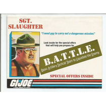 Gi Joe Battle / Catalogo Sto Slaughter / Usa / Año 1988