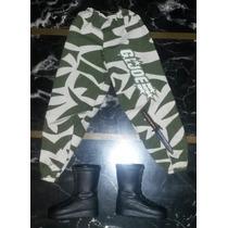 Pantalon Militar Combate + Acces. P/ Figura Accion 1/6 Gijoe