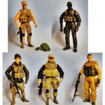 Set 5 Muñecos Elite Force Special Ops Navy Seal Delta Force