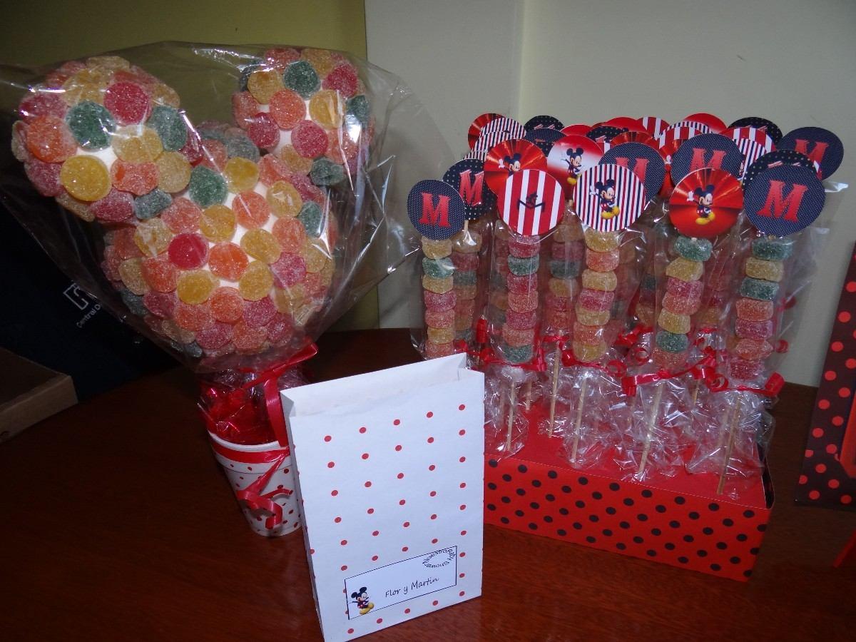 mesas de dulces infantiles con golosinas imagui