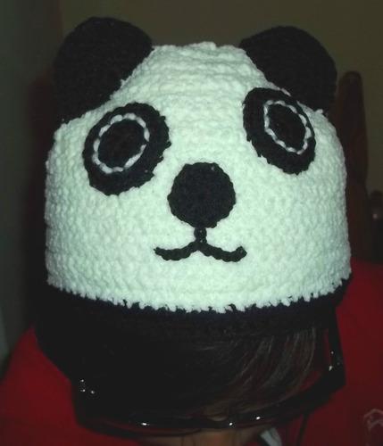 Gorro Oso Panda Tejido Al Crochet - $ 90,00 en MercadoLibre