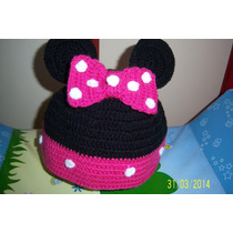 Gorros Al Crochet Diferentes Motivos Mickey, Minnie, Lechuza