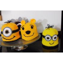 Gorros De Lana Tejidos A Crochet Personalizados Niños/adulto