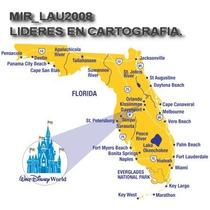Mapas De Florida Miami + Disney 2015 Para Gps Garmin Nuvi