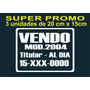 Calco Vendo Auto, Promo 3x1 Ploteo, Sticker De Vinilo