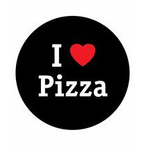 Calco Cartel Auto Vinilo Autoadhesivo I Love Pizza Promo
