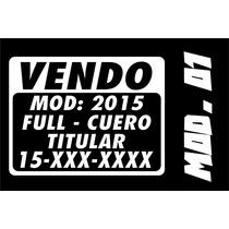 Calcos Cartel Vinilo Autoadhesivo Vendo Venta Autos X3