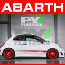 Kit Calcos Abarth Fiat 500 - Franjas + Escorpion