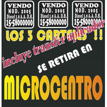 Cartel Vendo Auto | Calco Vendo Auto | Sticker Vendo Auto