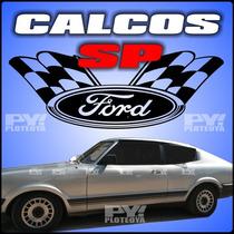 Calcos Ford Cupe Taunus Sp Calcomania Franja Ploteoya!