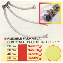 Flexible P/agua Con Conectores Metálicos 30cm Power Na5038#