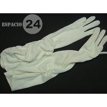 Guantes P/dama De Jersey De Nylon, Usados, T 6, Color Blanco