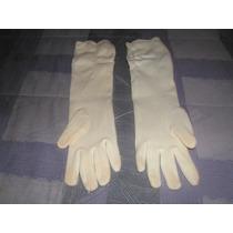 Guantes De Mujer Blancos Tipo Strech Vintage