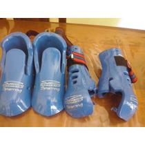 Equipo De Protectores Taekwondo Granmarc. Manos-pies,nro 3.