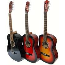 Guitarra Madera Clasica Criolla Con Cuerdas De Nylon Y Funda