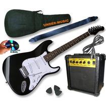 Combo Guitarra Electrica T/ Stratocaster + Amplificador 10w