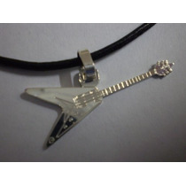 Colgante Guitarra Flecha - Dije Plata 925