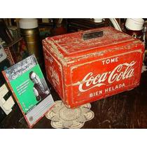 Antigua Heladera Coca Cola Madera Y Zinc De Almacen (3124)