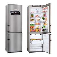 Heladera Con Freezer Kohinoor Acero 368lts 2 Motores