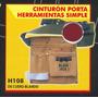 Cinturon Porta Herramientas Simple Black Jack H108 #