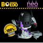 Fresadora Router 1200w 25000rpm + Guias Rectas 814 Neo