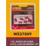 Accesorios Mini Drill Rueda Goma 6 Lijas De Banda1/4