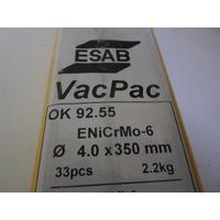 Electrodo Base Niquel Aws E Ni Cr Mo 6 Marca Esab De 4 Mm