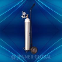 Tubo Oxígeno Medicinal + Regulador + Carro