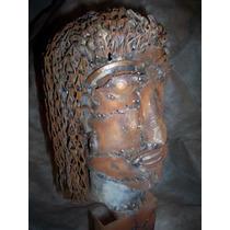 Escultura En Hierro Reciclado - Mujer Originaria