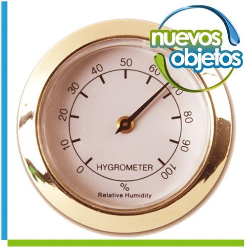 Higrómetro Para Caja De Habanos 37mm 0% A 100%