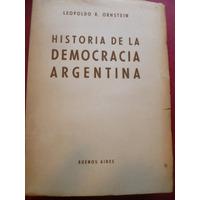 Historia De La Democracia Argentina De Leopoldo Ornstein