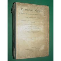 Libro Censo Buenos Aires 1910 Guiraldes Martinez Centenario