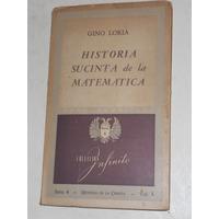 Historia Sucinta De La Matemática. Gino Loria.