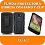 Funda Protectora Con Stand Lg G2 Carcasa Clip Cinto Cinturon