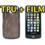 Funda Silicona Tpu + Film Protector Lg Gm600 Scarlet - Nnv