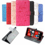 Estuche Nokia Lumia 530 Funda Relieve Tarjetero C/ Stand