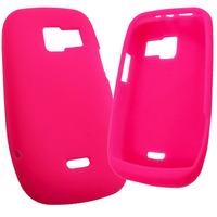 Funda Silicona Nokia 302 3020 Asha De Goma Rosa Pink