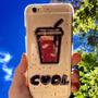 Funda Vaso Trago Cool Brillos Glitter Iphone 5 5s 6 6s Plus