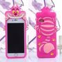 Funda Silicona 3d Gato Alicia Iphone 5 5s 6 6s Plus