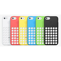 Funda Silicona Colores Iphone 5c Logo Apple + Film Pantalla