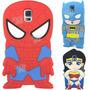 Funda Silicona Superheroes Samsung Note 3 3d Batman Superman