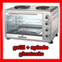 Horno Electrico Kacemaster 60 Lts+ Spiedo + Grill+ 2 Anafe