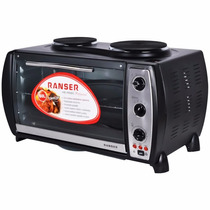 Horno Electrico Ranser 60lts 2 Anafes Pro Spiedo Ctas S/int