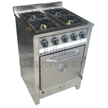 Cocina Industrial 58 Cm Total Acero. Horno Piso Refractario.